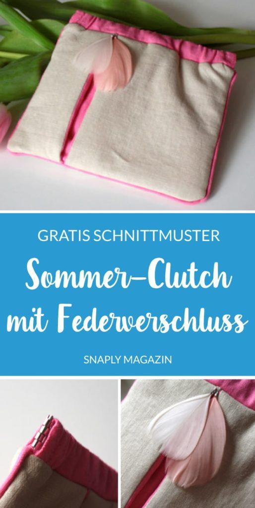 Gratis Schnittmuster: Sommer-Clutch mit Federverschluss