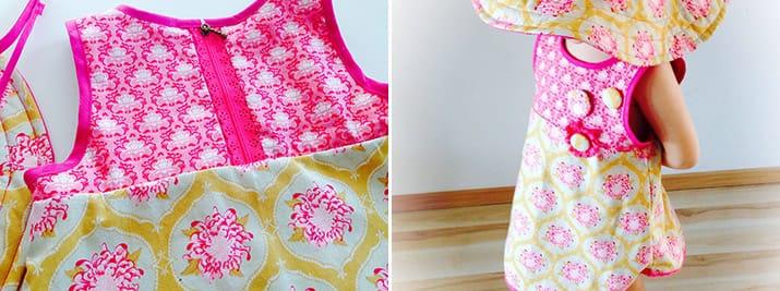 Kleid mit Spitzenreißverschluss