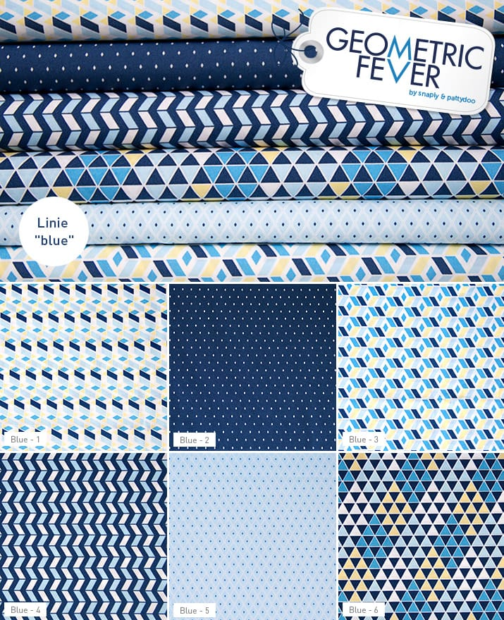 Geometric Fever Blue