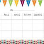 Kostenloses Printable: Kunterbunter Stundenplan
