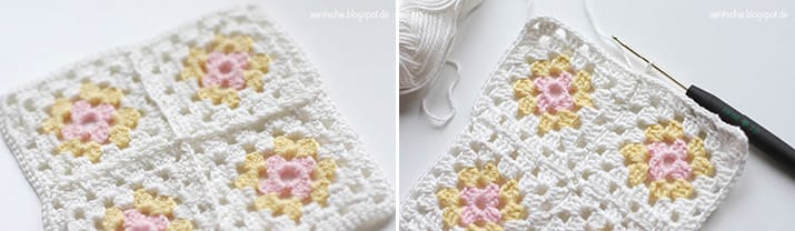 Anleitung Granny Squares Tasche