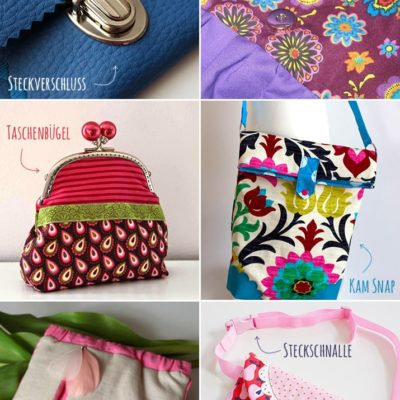 6 Varianten für Taschenverschlüsse