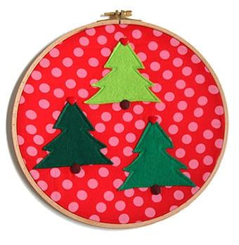 Anleitung: Weihnachtsdeko im Stickrahmen