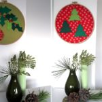 DIY-Anleitung: Weihnachtsdeko im Stickrahmen