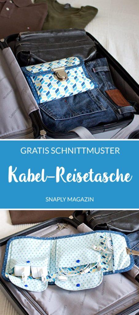 Gratis Schnittmuster: Kabel-Reisetasche