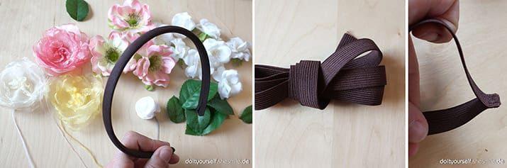 Blumenkranz zur Hochzeit