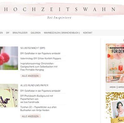 Кreativblog des Monats: Hochzeitswahn