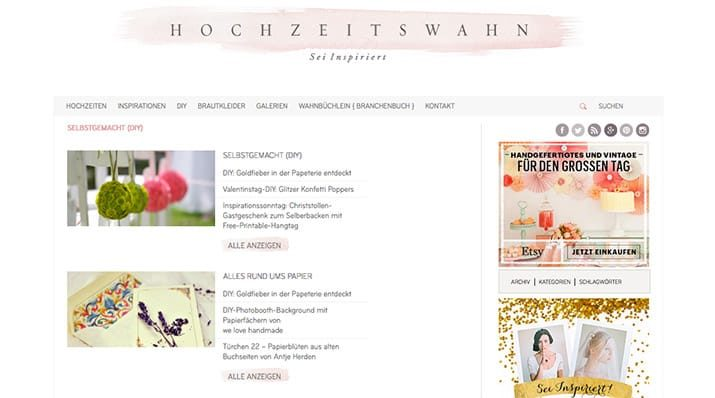 Kreativblog: Hochzeitswahn