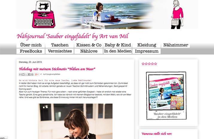 Kreativblog des Monats: Sauber eingefädelt