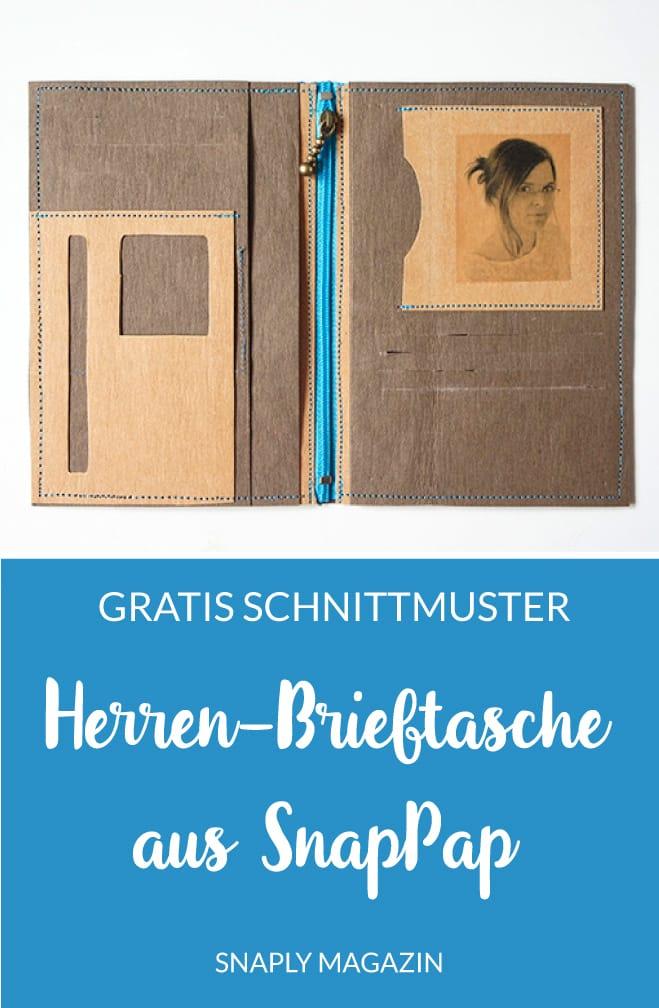 Gratis Schnittmuster: Herren-Brieftasche aus SnapPap