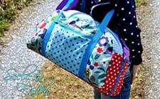 Nähbeispiele aus unseren Borten & Bändern: Reisetasche & Kameratasche