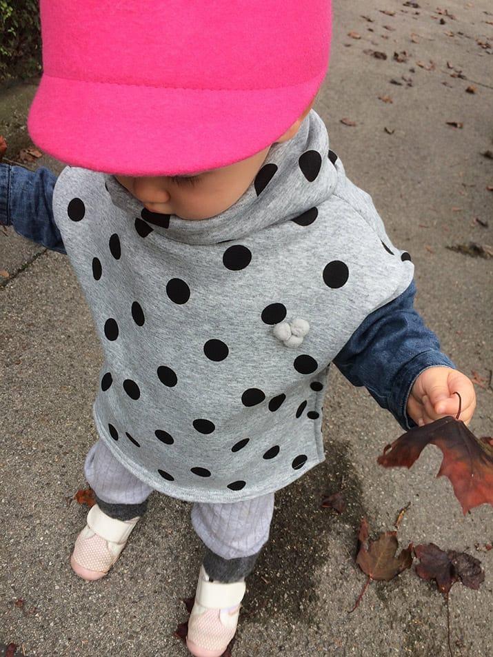 DIY-Anleitung: Herbstponcho für Kinder