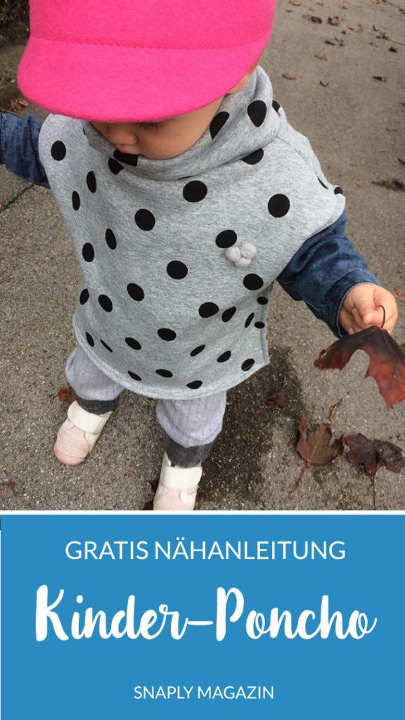 Kostenlose Nähanleitung: Kinder-Poncho