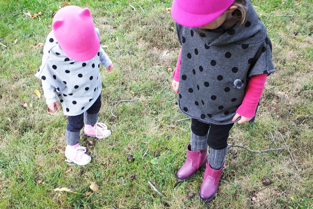 Nähanleitung: Kinder-Herbstponcho aus Fleece - Snaply-Magazin