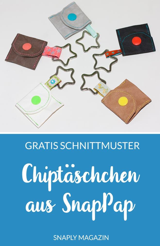 Gratis Schnittmuster: Chiptäschchen aus SnapPap