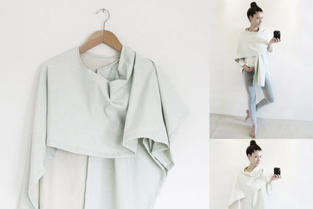 Nähanleitung: 3 IN 1 - Kimono | Stillschal | Poncho - Snaply-Magazin