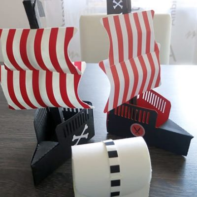 DIY-Anleitung: Piratenschiff aus SnapPap