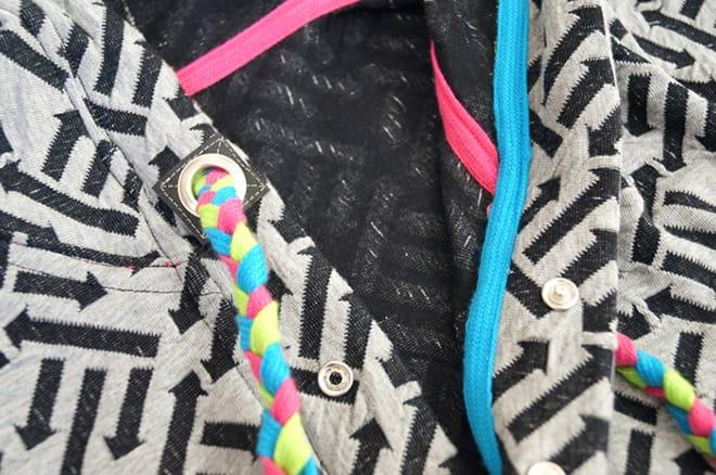 Gebrauchsanleitung: Kordelverschluss mit Hoodiebändern