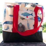 Gratis Schnittmuster für eine Strand- oder Picknicktasche
