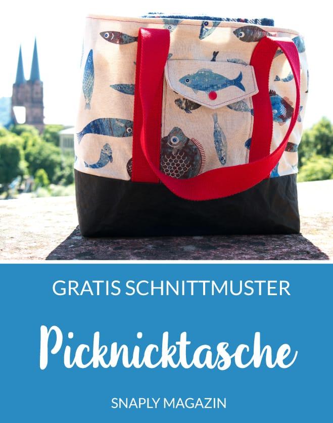 Gratis Schnittmuster: Picknicktasche