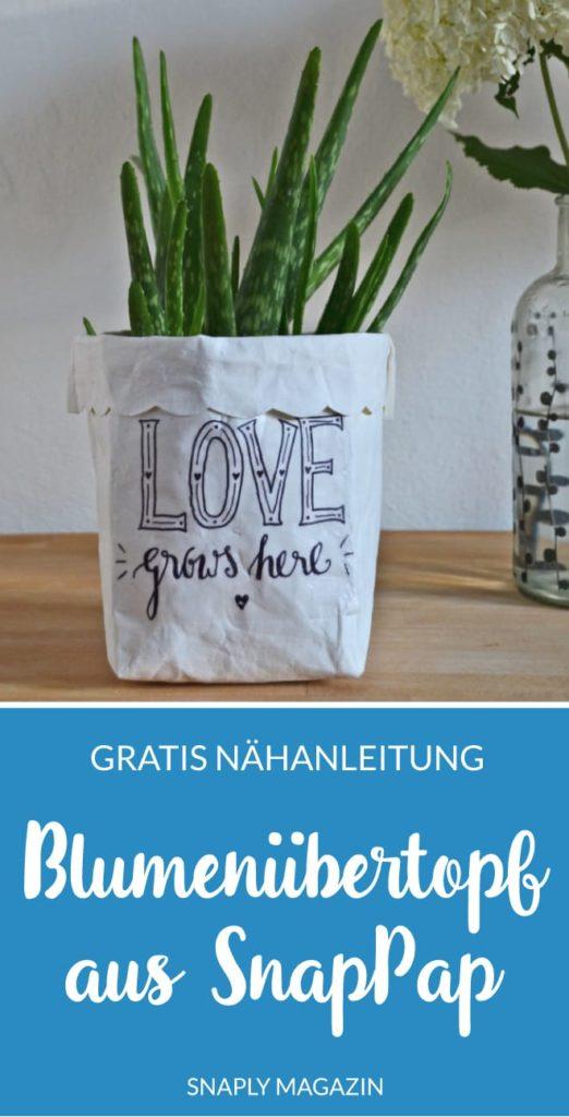 Kostenlose Nähanleitung: Blumenübertopf aus SnapPap