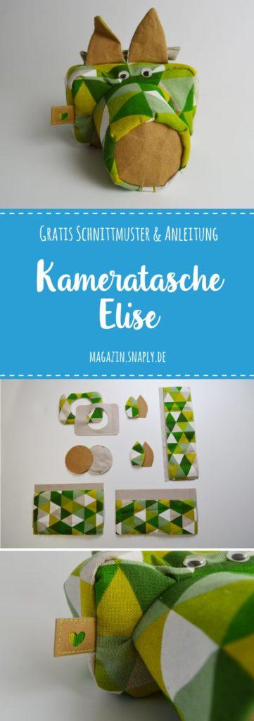 Gratis Nähanleitung & Schnittmuster: Kameratasche Elise