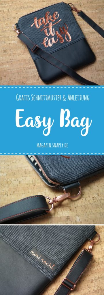 Gratis Nähanleitung & Schnittmuster: Easy Bag