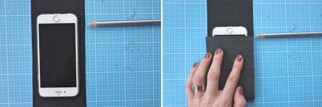 GRATIS Nähanleitung + Schnittmuster: Handy-Ladestation aus Korkstoff