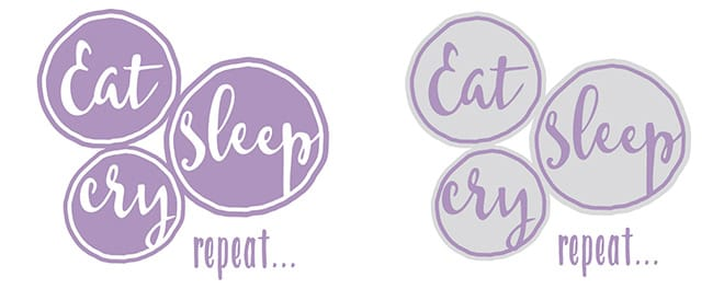 Plotter-Freebie Eat Sleep Cry