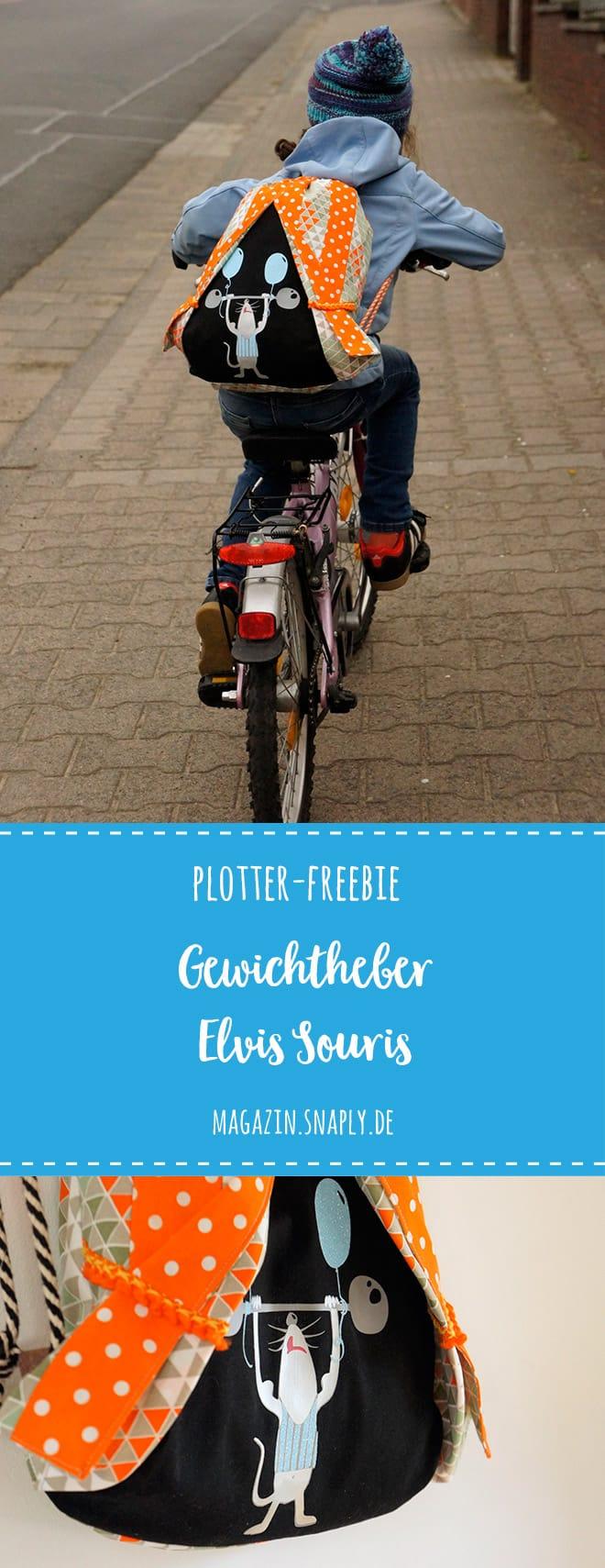 Plotter-Freebie Gewichtheber Elvis Souris