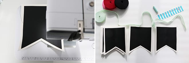 Anleitung Wimpelkette aus Tafelstoff
