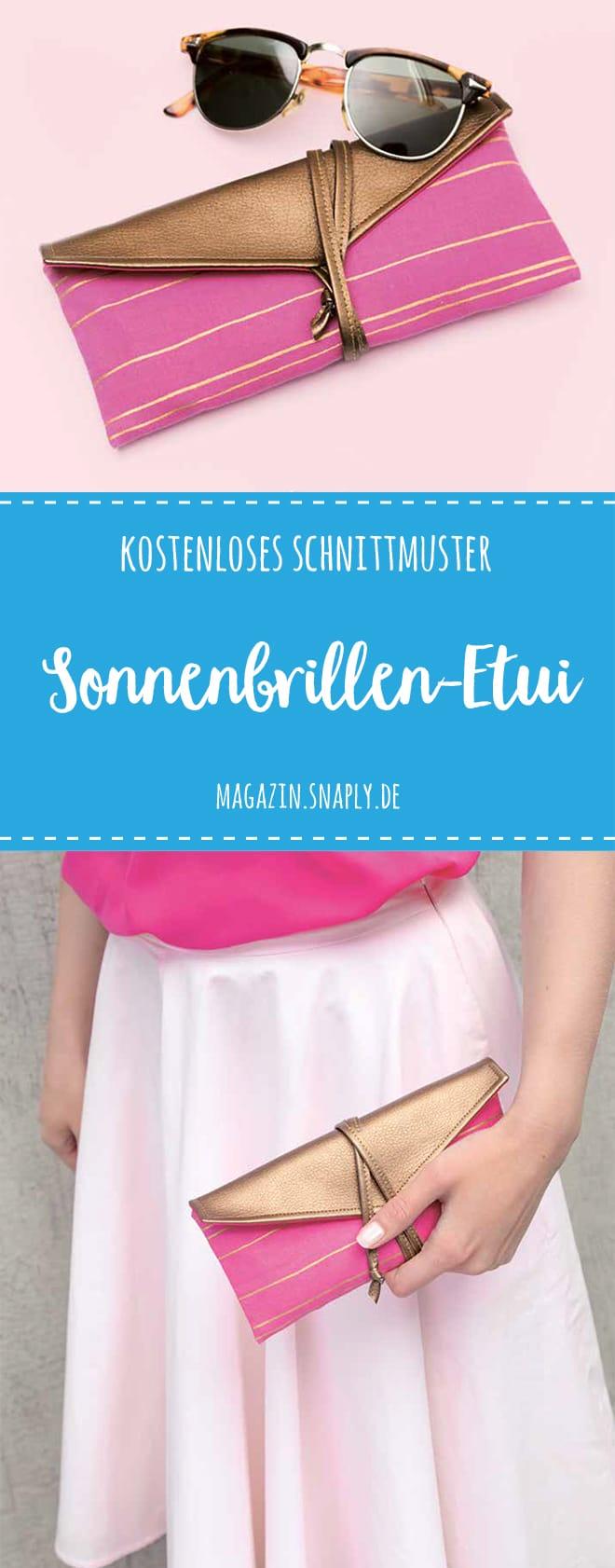 "Kostenloses Schnittmuster: Sonnenbrillen-Etui ""Finja"""