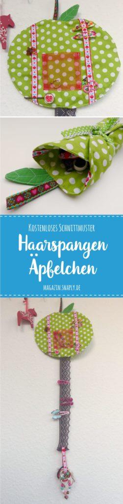 Kostenloses Schnittmuster: Haarspangen-Äpfelchen