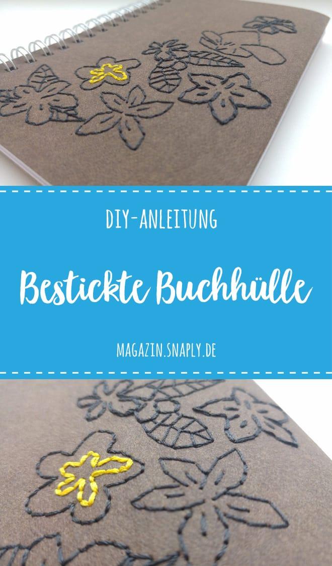DIY-Anleitung: Bestickte Notizbuchhülle