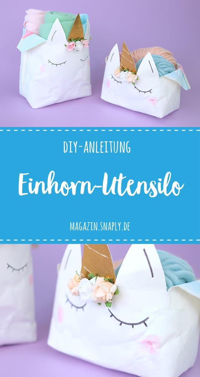 DIY-Anleitung: Einhorn-Utensilo