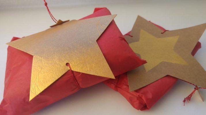 Kostenloses Schnittmuster: Adventskalender-Sterne oder Geschenkverpackung