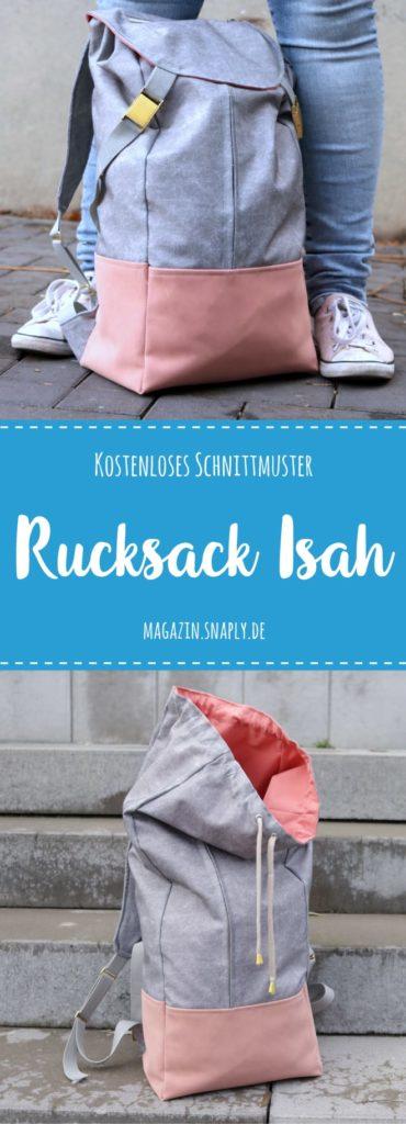 Kostenloses Schnittmuster: Rucksack Isah - Snaply-Magazin