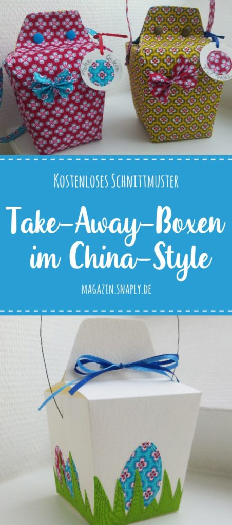 Kostenloses Schnittmuster: Take-Away-Boxen im China-Style - Snaply ...