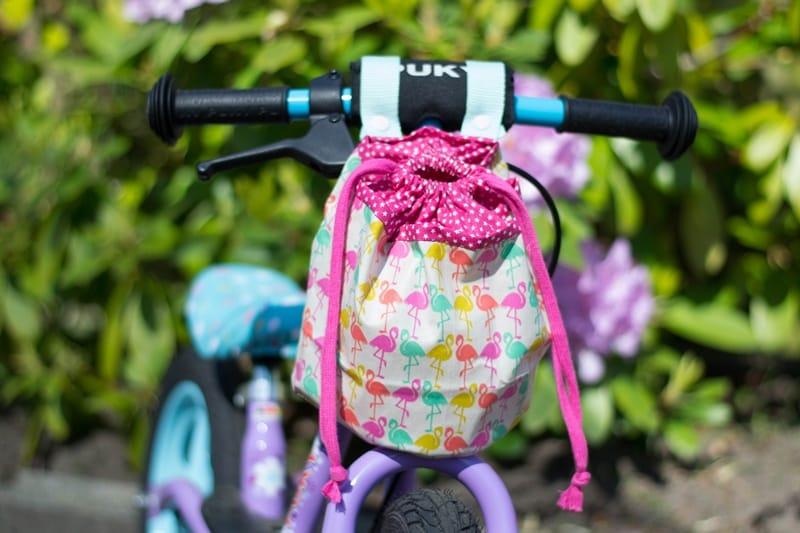 Lenkertasche für Kinderfahrrad oder Laufrad nähen – Schnittmuster kostenlos
