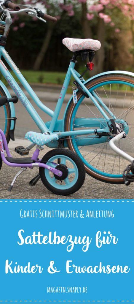 Kostenloses Schnittmuster: Sattelbezug für ein Kinder-Laufrad und Erwachsenen-Fahrrad