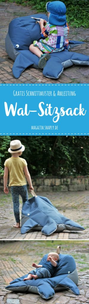 Kostenloses Schnittmuster: Wal-Sitzsack - Snaply-Magazin