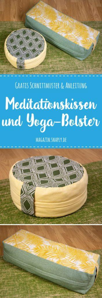 Kostenloses Schnittmuster: Meditationskissen und Yoga-Bolster