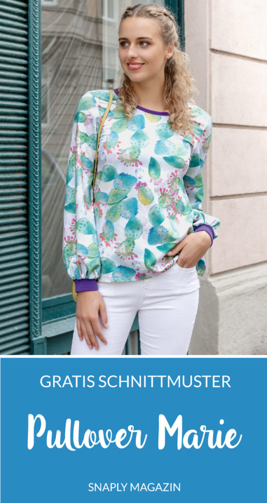 Kostenloses Schnittmuster Pullover Marie