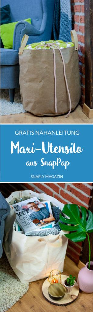 Kostenloses Schnittmuster Maxi-Utensilo aus SnapPap