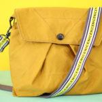"""Nice Bag"" aus Fox Oilskin nähen mit Typo-Gurt – Gratis Schnittmuster"