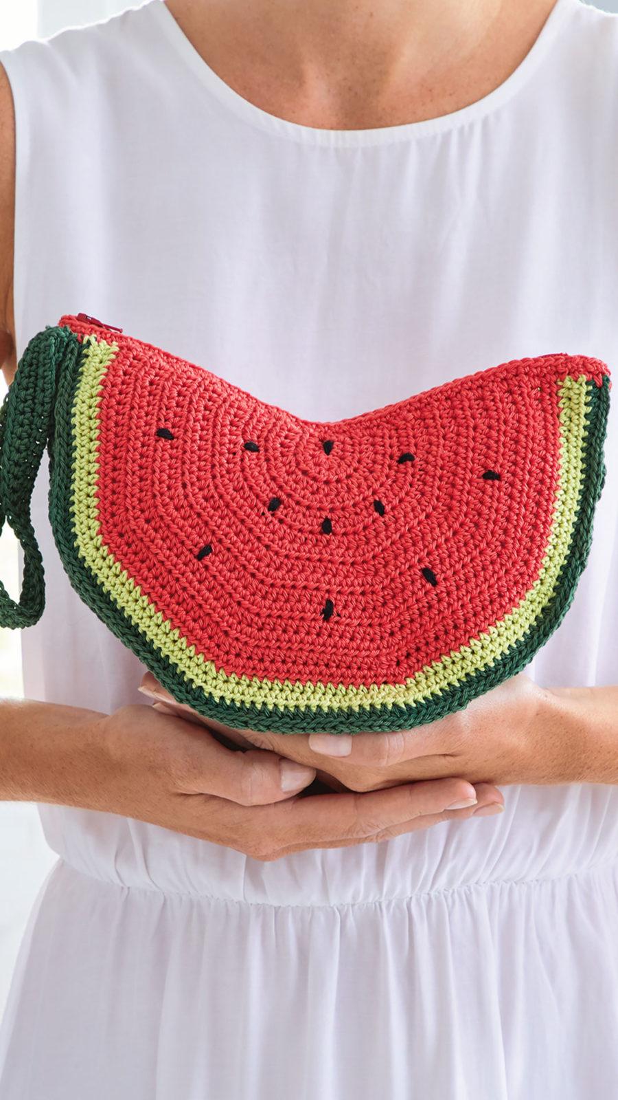 Melonen-Clutch häkeln – Häkelanleitung kostenlos