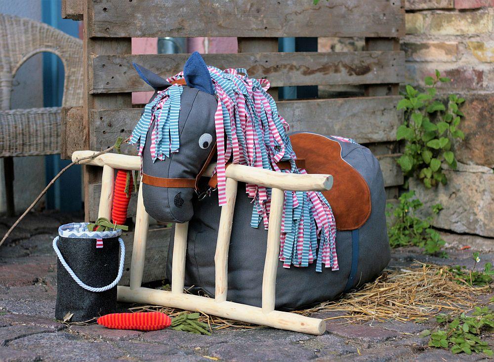 Sitzsack-Pferd nähen - Schnittmuster kostenlos
