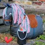 Kostenloses Schnittmuster für einen Pferde-Sitzsack