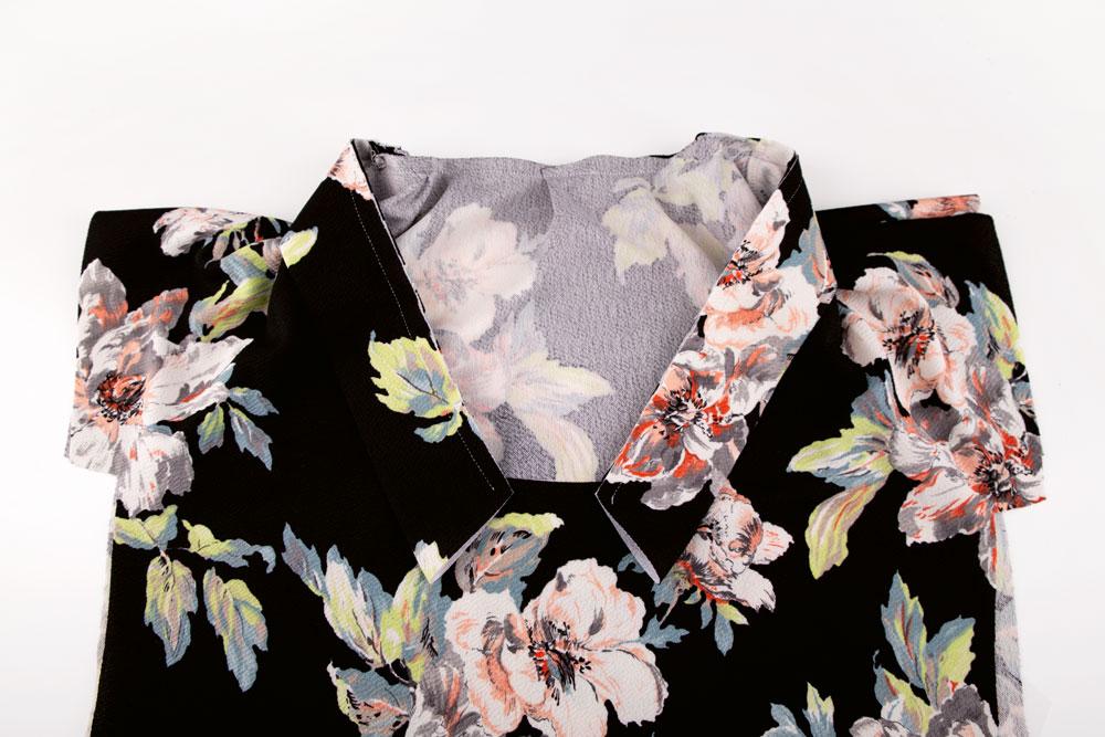 Bluse mit V-Ausschnitt nähen - Schnittmuster kostenlos