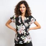 Kostenloses Schnittmuster für eine Bluse mit V-Ausschnitt